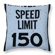 Mercedes Speed Limit 150 Throw Pillow
