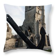 Merchant Sailors Memorial With Q.e.2 Anchor Throw Pillow