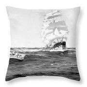 Merchant Ship, 1899 Throw Pillow