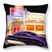 Mercs Burgers Throw Pillow