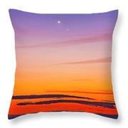 Mercury & Venus Conjunction Closeup Throw Pillow