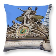 Mercury Mimerva And Hercules Throw Pillow