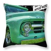 Mercury Truck Bw Background Throw Pillow
