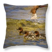 Merganser Lake Tahoe Throw Pillow
