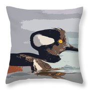 Merganser Reflections Throw Pillow