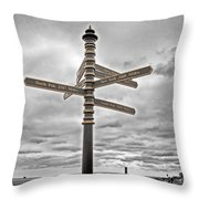 Meridian Signpost Throw Pillow