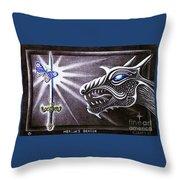 Merlin's Dragon Throw Pillow