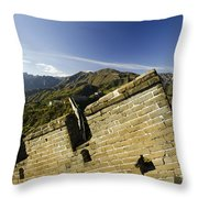 Merlon View At The Great Wall 1046 Throw Pillow