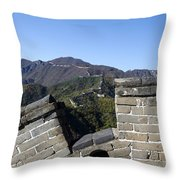 Merlon View From The Great Wall 726 Throw Pillow