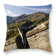 Merlon View Of The Great Wall 1037 Throw Pillow