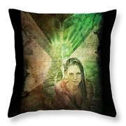 Mermaid Cave Throw Pillow