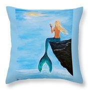 Mermaid Glam Day Throw Pillow