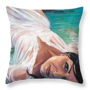 Mermaid Helen Throw Pillow