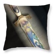 Mermaid Knife Throw Pillow