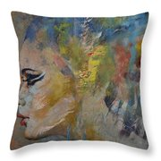 Mermaid Throw Pillow by Michael Creese