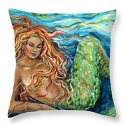 Mermaid Sleep New Throw Pillow