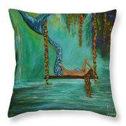 Mermaids Relaxing Evening Throw Pillow