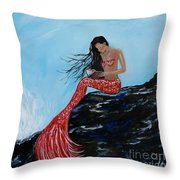 Mermaids Timeless Tales Throw Pillow