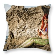 Mermais Sighting 1 Throw Pillow