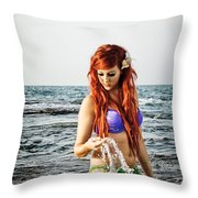 Mermais Sighting 2 Throw Pillow