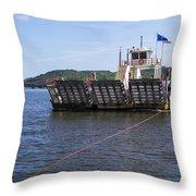 Merrimac Ferry - Wisconin Throw Pillow