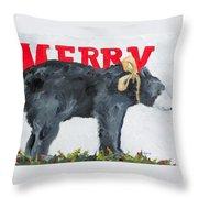 Merry Bear Throw Pillow