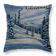 Merry Christmas - Winter Landscape Throw Pillow