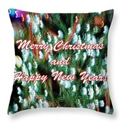 Merry Christmas 2 Throw Pillow by Skip Nall