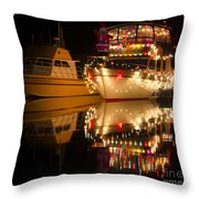 Merry Christmas Bandon By The Sea 1 Throw Pillow