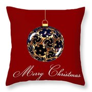 Merry Christmas Bauble Throw Pillow
