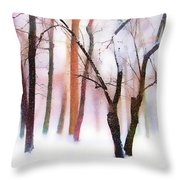Merry Christmas Card Throw Pillow by Jessica Jenney