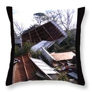 Merry Christmas From Mother Nature - I'm A Tornado Throw Pillow