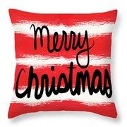 Merry Christmas- Greeting Card Throw Pillow