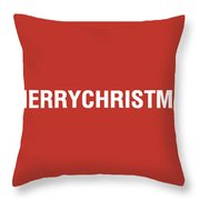 Merry Christmas Hashtag Throw Pillow