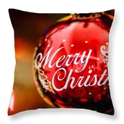 Merry Christmas Ornament Throw Pillow
