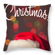 Merry Christmas Santa Card Throw Pillow