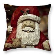 Merry Christmas To All Throw Pillow by Trish Tritz