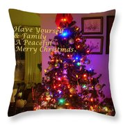 Merry Christmas Wish Throw Pillow