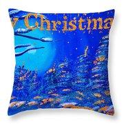 Merry Christmas Wish V2 Throw Pillow