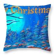 Merry Christmas Wish V3 Throw Pillow