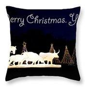 Merry Christmas Ya'll Throw Pillow