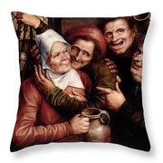 Merry Company Throw Pillow