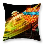 Merry-go-round By Night Throw Pillow