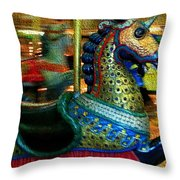 Merry Go Round II Throw Pillow