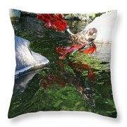 Merry Koi Throw Pillow