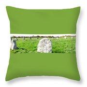 Merry Maidens Stone Circle Cornwall Throw Pillow