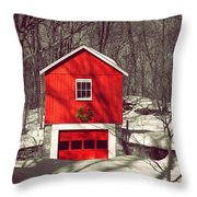 Merry Red Throw Pillow