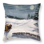 Merry Ride Throw Pillow