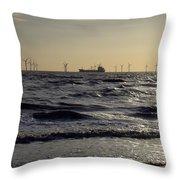 Mersey Tanker Throw Pillow