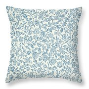 Merton Wallpaper Design Throw Pillow